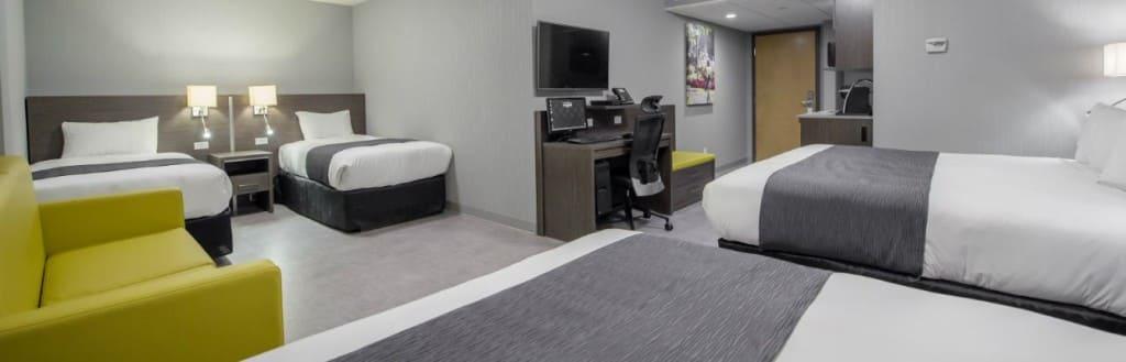 Chambre d'hôtel spacieuses